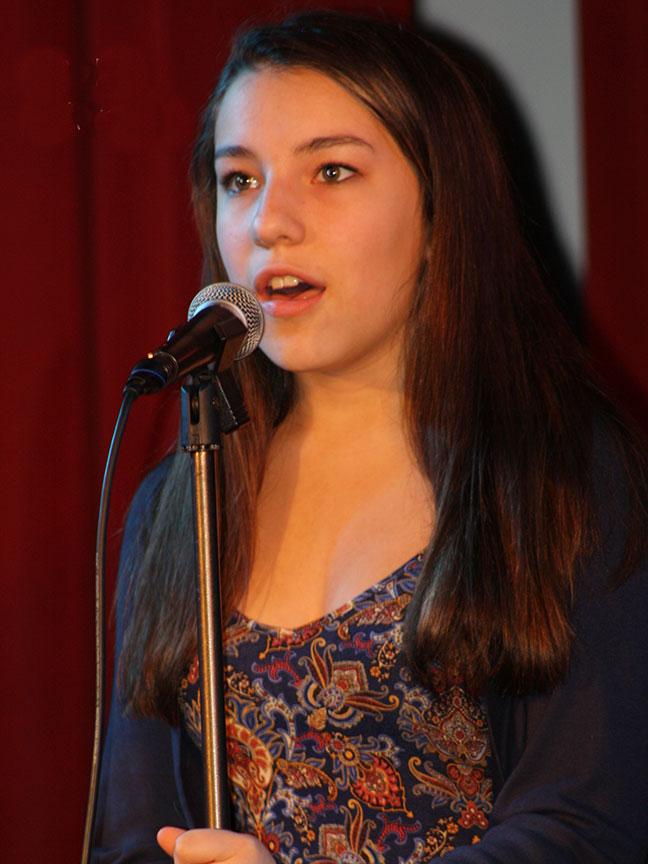 Bekah sings